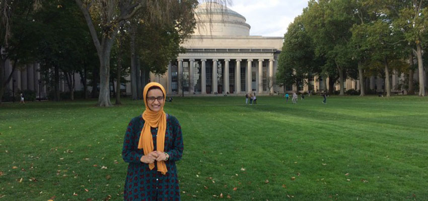 MIT Water Innovator-in-Residence Sahar Abdelhakim gets to know the MIT campus!