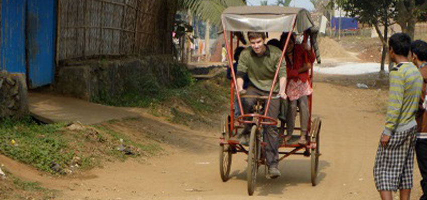 Ned considering leaving academia for life as a rickshaw wallah...