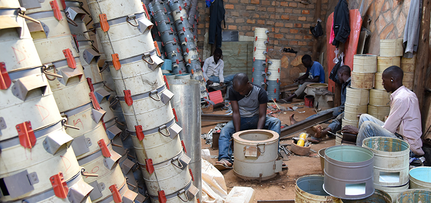 Building cookstoves, Soroti, Uganda.