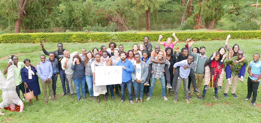 Local and international participants & organizers from 19 countries that gathered in Embu, Kenya for 15 days in July to live together and understand the challenges of financial inclusion through the co creative design process with local community partners.