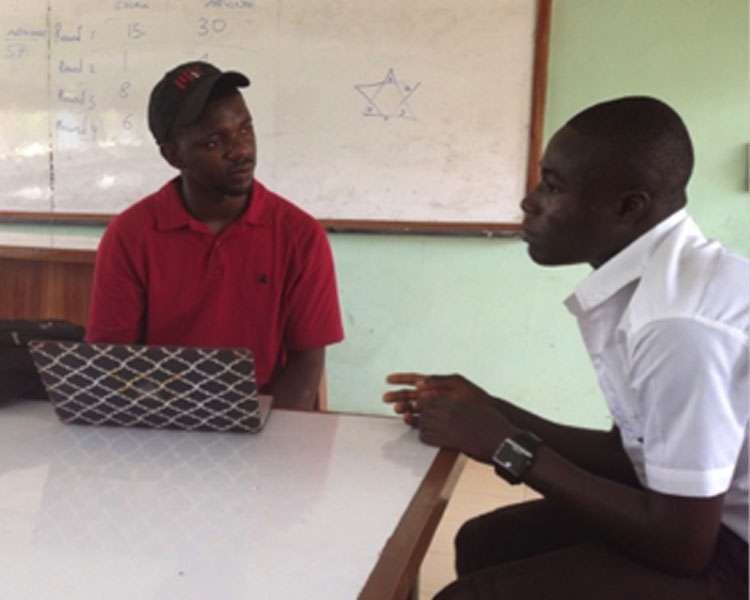 Interviews with students in Ghana.
