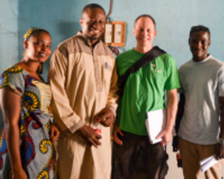D-Lab's Eric Verploegen (second from right) with partners in Mali.