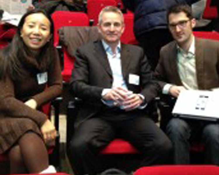 Shimei Fan and Clive Allison of Unilever (left and center) with Alban Jacquin of Schneider Electric (right)